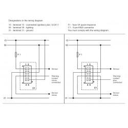 VDO ViewLine Brandstofniveau 90-0.5 Ohm* Zwart 52mm
