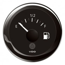 VDO ViewLine Fuel Level 3-180 Ohm Black 52mm