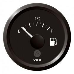 VDO ViewLine Brandstofniveau 3-180 Ohm Zwart 52mm