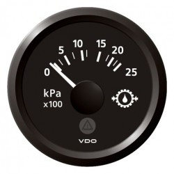 VDO ViewLine Transmissie oliedruk 25kPa Zwart 52mm