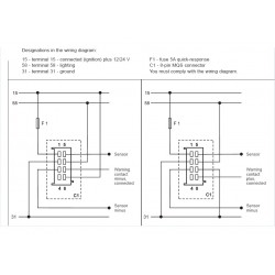 VDO ViewLine Koelwaterdruk 2Bar Zwart 52mm