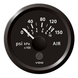 VDO ViewLine Air Pressure 150PSI Black 52mm