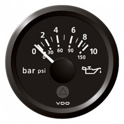VDO ViewLine Engine Oil Pressure 10Bar Black 52mm