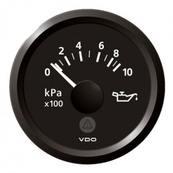 VDO ViewLine Motoroliedruk 10kPa Zwart 52mm