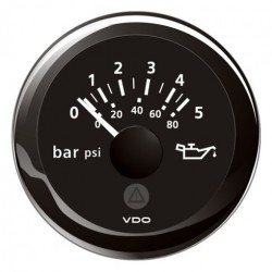 VDO ViewLine Engine Oil Pressure 5Bar Black 52mm