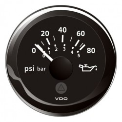 VDO ViewLine Engine Oil Pressure 80PSI Black 52mm