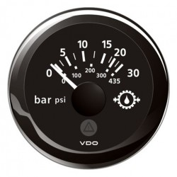 VDO ViewLine Gear Oil Pressure 30Bar Black 52mm