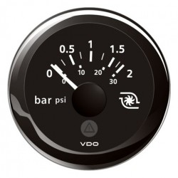 VDO ViewLine Turbo Pressure 2Bar Black 52mm