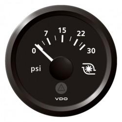 VDO ViewLine Turbodruk 30PSI Zwart 52mm
