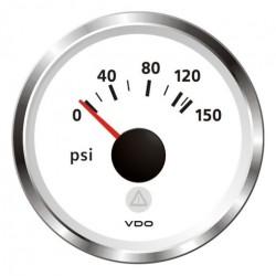 VDO ViewLine Motoroliedruk 150PSI Wit 52mm