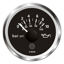 """VDO Viewline Motor Öldruck Anzeige 52mm 2/"""" 10bar schwarz 12//24V A2C59514112"""