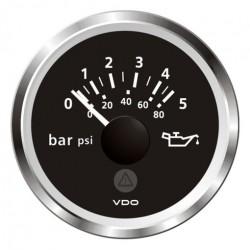 VDO ViewLine Motoroliedruk 5Bar Zwart 52mm
