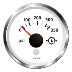 VDO ViewLine Transmissie oliedruk 350PSI Wit 52mm