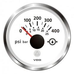 VDO ViewLine Transmissie oliedruk 400PSI Wit 52mm