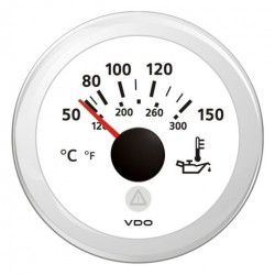 VDO ViewLine Motorolietemperatuur 150°C Wit 52mm