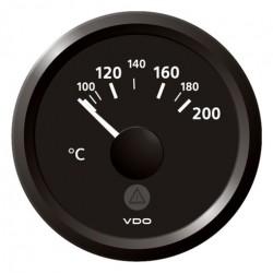 VDO ViewLine Cilinder temperatuur 200°C Zwart 52mm
