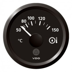 VDO ViewLine Gear Oil Temperature 150°C Black 52mm