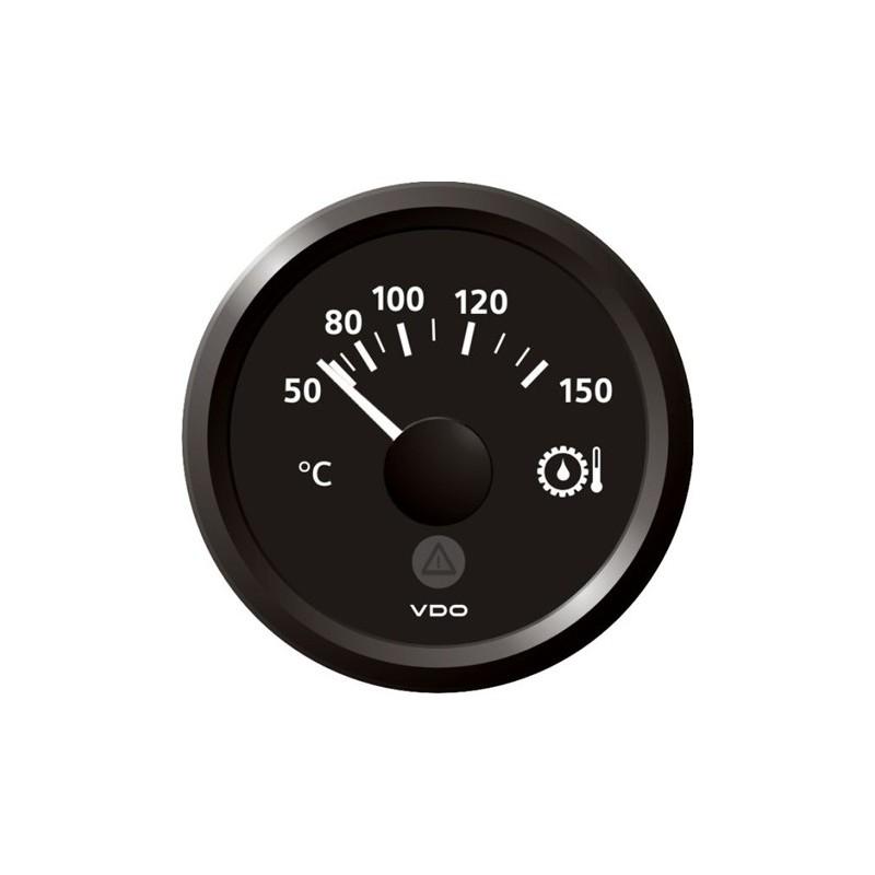 VDO ViewLine Transmissie olietemperatuur 150°C Zwart 52mm