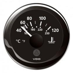 VDO ViewLine Koelwatertemperatuur 120°C Zwart 52mm