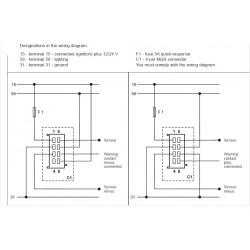 VDO ViewLine Hydrauliek temperatuur 120°C Zwart 52mm