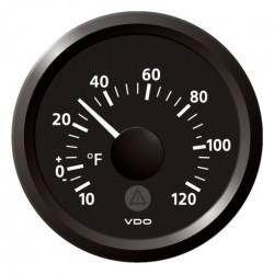 VDO ViewLine Buitentemperatuur 120°F Zwart 52mm