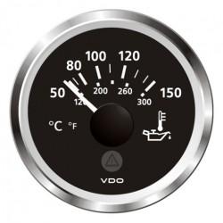 VDO ViewLine Engine Oil Temperature 150°C Black 52mm