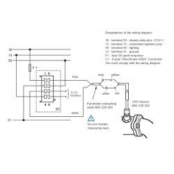 VDO ViewLine Pyrometer 900°C Weiß 52mm