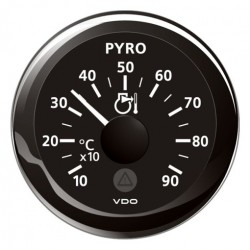 VDO ViewLine Pyrometer 900°C Zwart 52mm