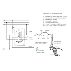 vdo rudder gauge wiring diagram vdo viewline pyrometer 900°c black 52mm vdo cht gauge wiring diagram #1