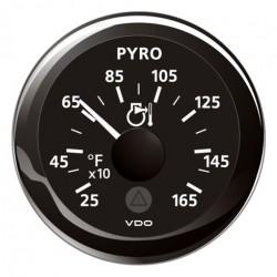 VDO ViewLine Pyrometer 1.650°F Schwarz 52mm