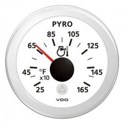 VDO ViewLine Pyrometer 1.650°F Weiß 52mm