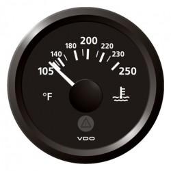 VDO ViewLine Koelwatertemperatuur 250°F Zwart 52mm