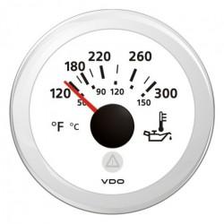 VDO ViewLine Motor Öltemperatur 300°F Weiß 52mm