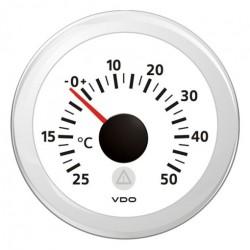 VDO ViewLine Buitentemperatuur Kit 50°C Wit 52mm