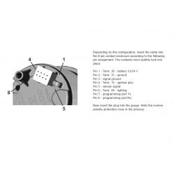 VDO ViewLine Buitentemperatuur Kit 50°C Zwart 52mm