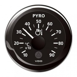 VDO ViewLine Pyrometer Kit 900°C Black 52mm