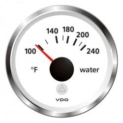 VDO ViewLine Watertemperatuur 240°F Wit 52mm