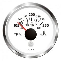 VDO ViewLine Koelwatertemperatuur 250°F Wit 52mm