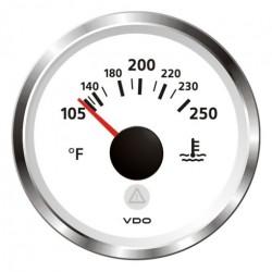 VDO ViewLine Coolant Temperature 250°F White 52mm