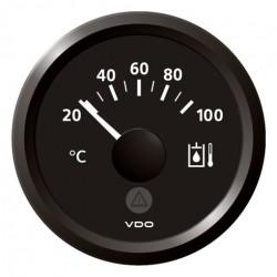 VDO ViewLine Hydraulic Temperature 100°C Black 52mm