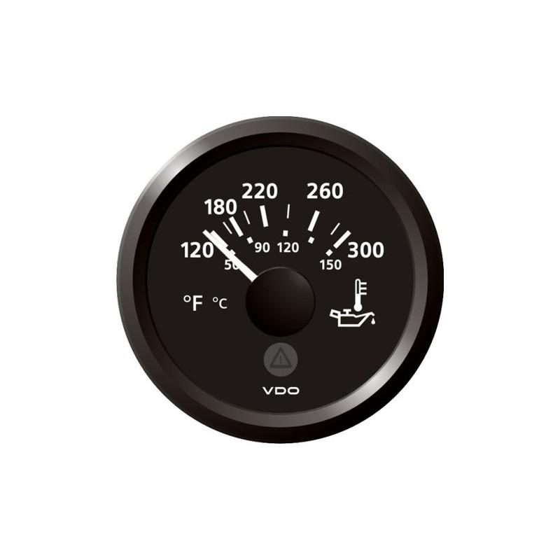 VDO ViewLine Motorolietemperatuur 300°F Zwart 52mm