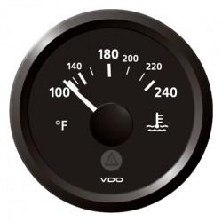 VDO ViewLine Koelwatertemperatuur 240°F Zwart 52mm