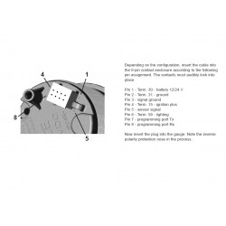 VDO ViewLine Toerenteller 8.000 RPM Wit 52mm