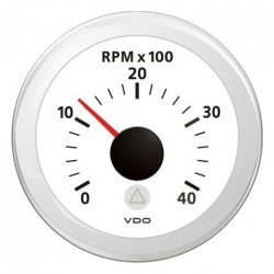 VDO ViewLine Tachometer 4.000 RPM White 52mm