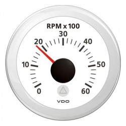 VDO ViewLine Tachometer 6.000 RPM White 52mm