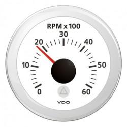 VDO ViewLine Tachometer 6.000 RPM White 52mm