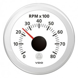 VDO ViewLine Tachometer 8.000 RPM White 52mm