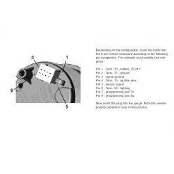 VDO ViewLine Tachometer 8.000 RPM White 52mm