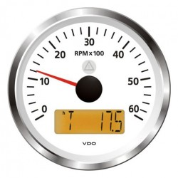 VDO ViewLine Drehzahlmesser 6.000 RPM Weiß 85mm