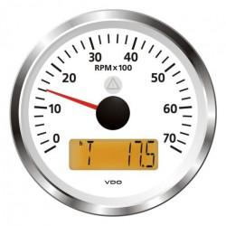 VDO ViewLine Drehzahlmesser 7.000 RPM Weiß 85mm